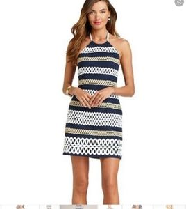 LILLY PULITZER ROPE ME HALTER NECK DRESS